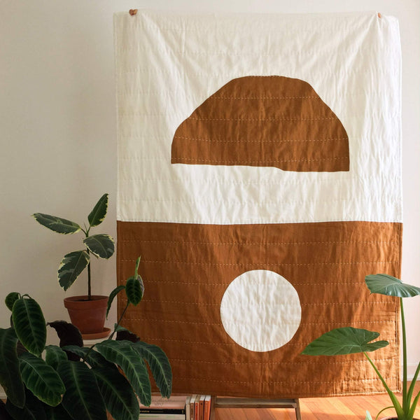 Quilted Throw | Rust