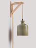 Bhuti Short Handmade Ceramic Pendant Lamp in Olive
