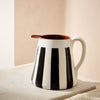 Terracotta Striped Jug | Black