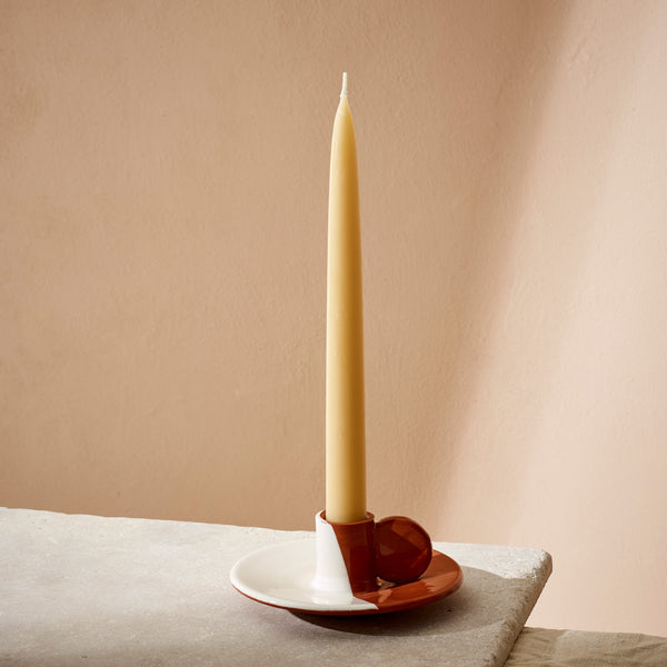 Terracotta Dipped Candle Holder