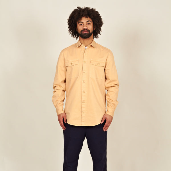 Luso heavy cotton shirt beige