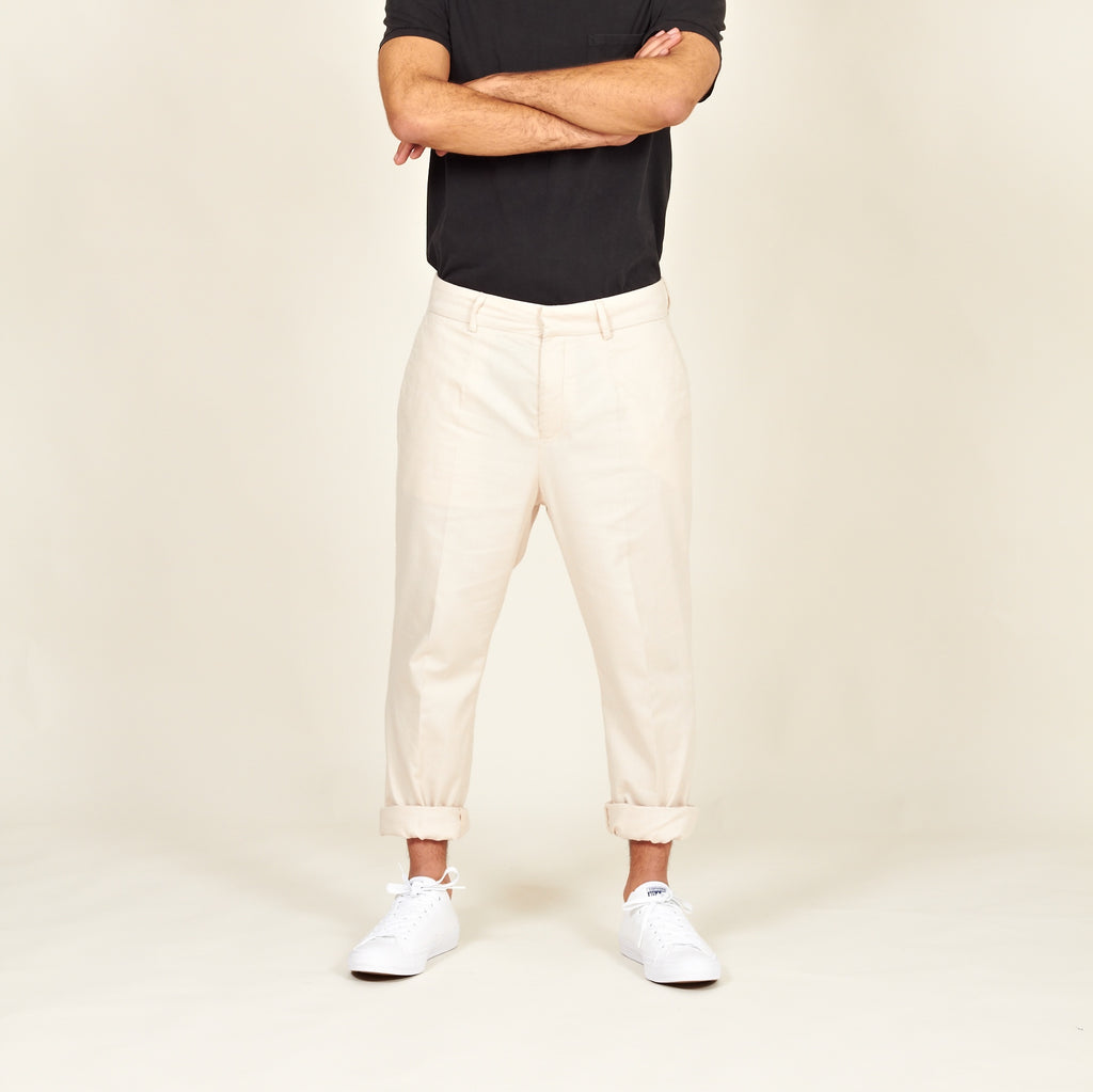 Boticas cotton flannel chinos off-white front