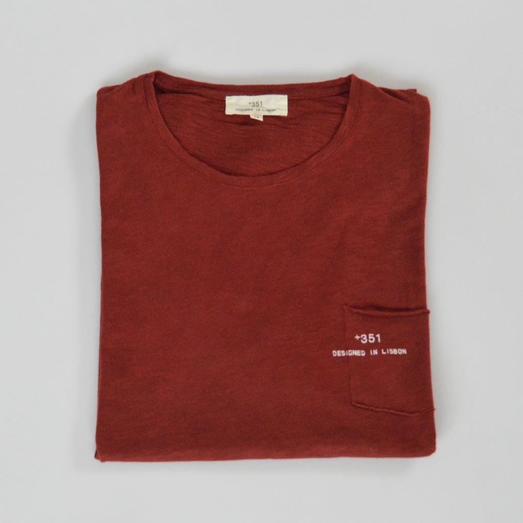 Classic red cotton t-shirt