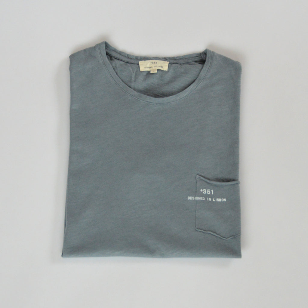 Classic light blue cotton t-shirt