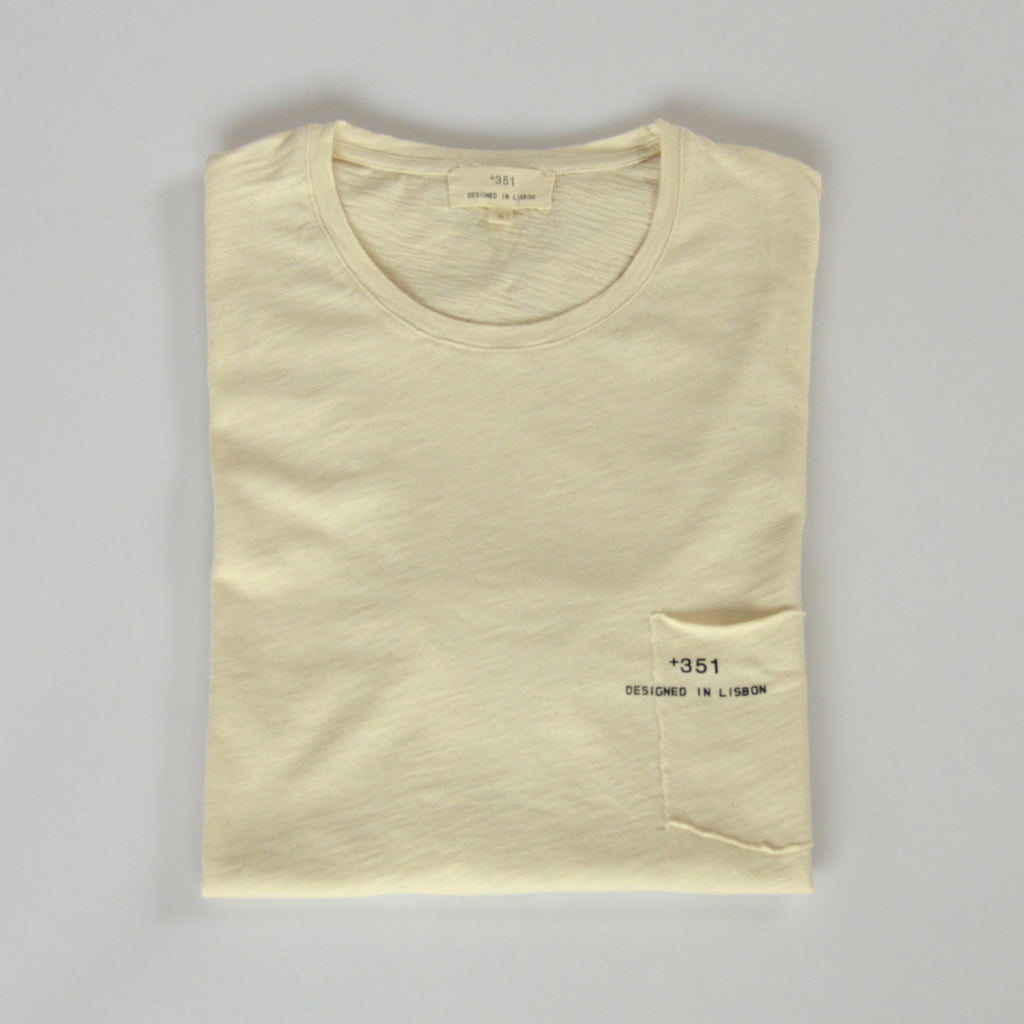 Classic cream cotton t-shirt