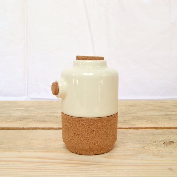 cork and ceramic mini teapot bone