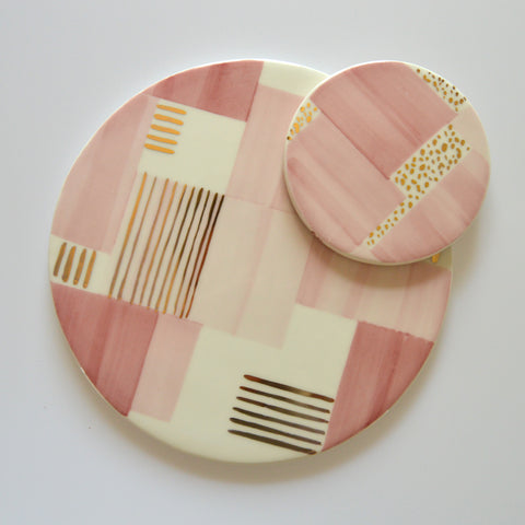 hot pan stand, ceramic trivet, portuguese pottery, portuguese ceramics, hand-painted ceramics