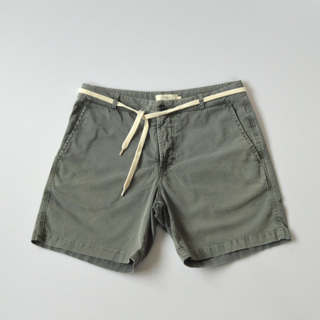 Mens grey cotton shorts front