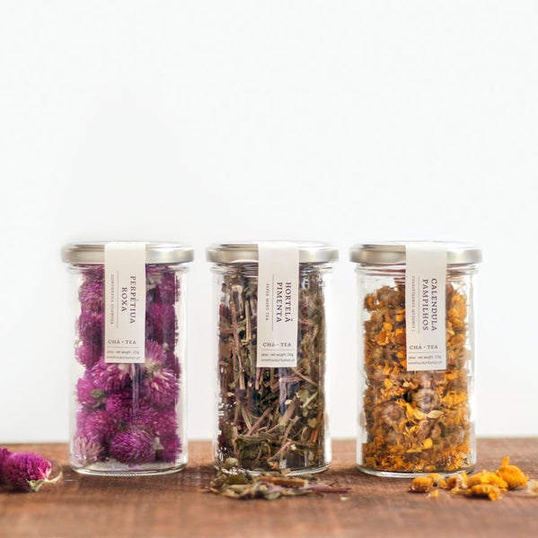 Loose Leaf Herbal Tea Set: Amaranth, Peppermint, Calendula