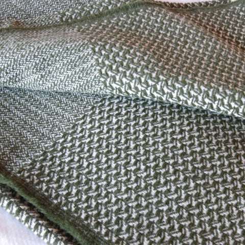 Wool Blanket Moss Green
