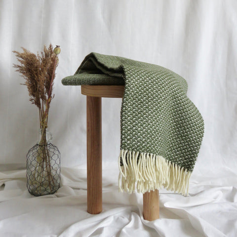 Wool Blanket | Moss Green