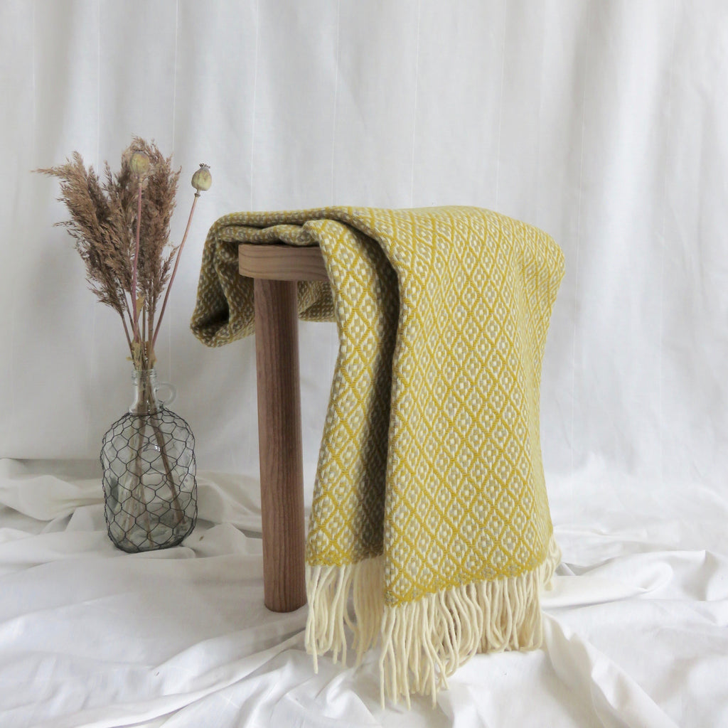 Two Tone Blanket | Mustard & Grey