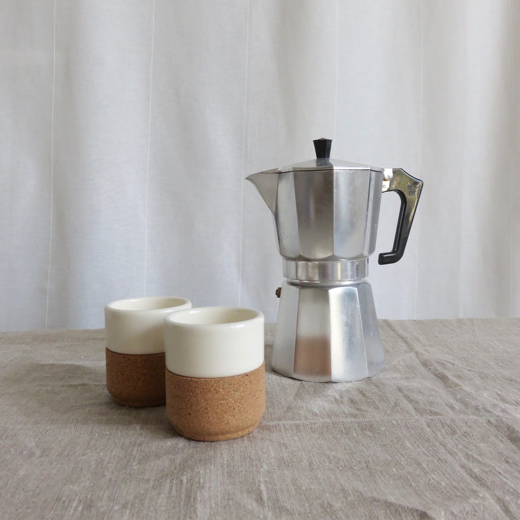 Cork + Ceramic Espresso Cup Bone
