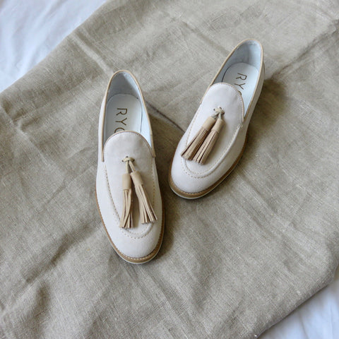 Suede Loafers | Beige