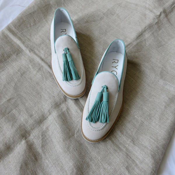Suede Loafers | Aqua