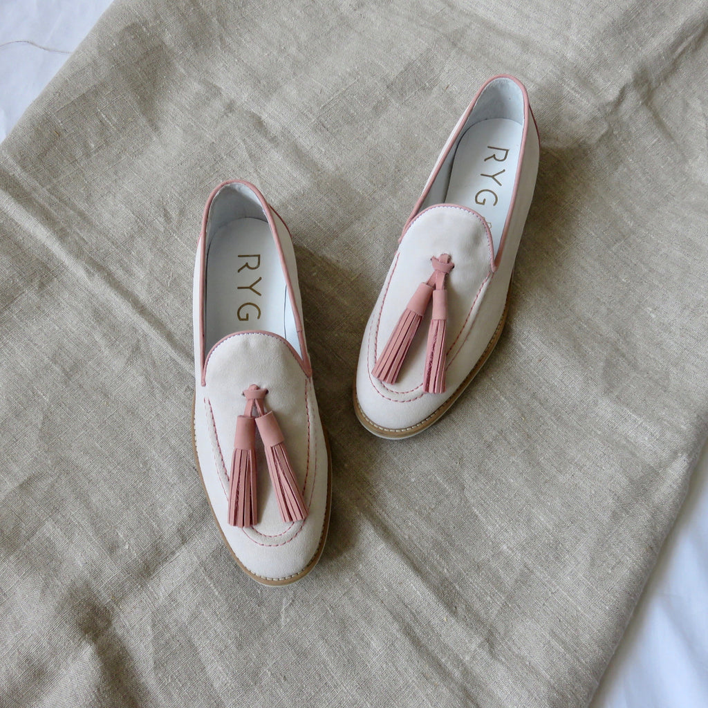Suede Loafers | Salmon