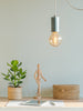 Ioba Handmade Ceramic Pendant Lamp in Mint