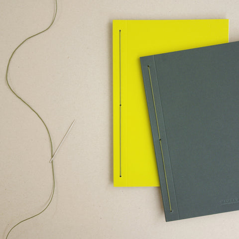 Notebook yellow green B5 B6 plain ruled