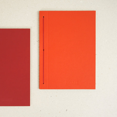 Notebook orange red B5 B6 plain ruled