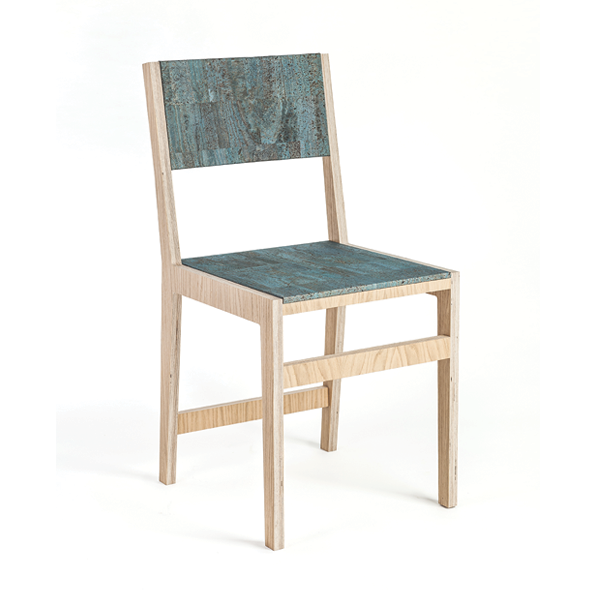 Ludity Cork Chair Turquoise