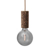 Nove Lighting Blackened Cork Pendant Nude