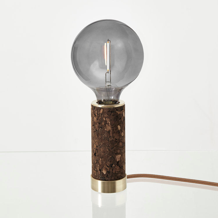 Nove Lighting Black Cork Table Lamp