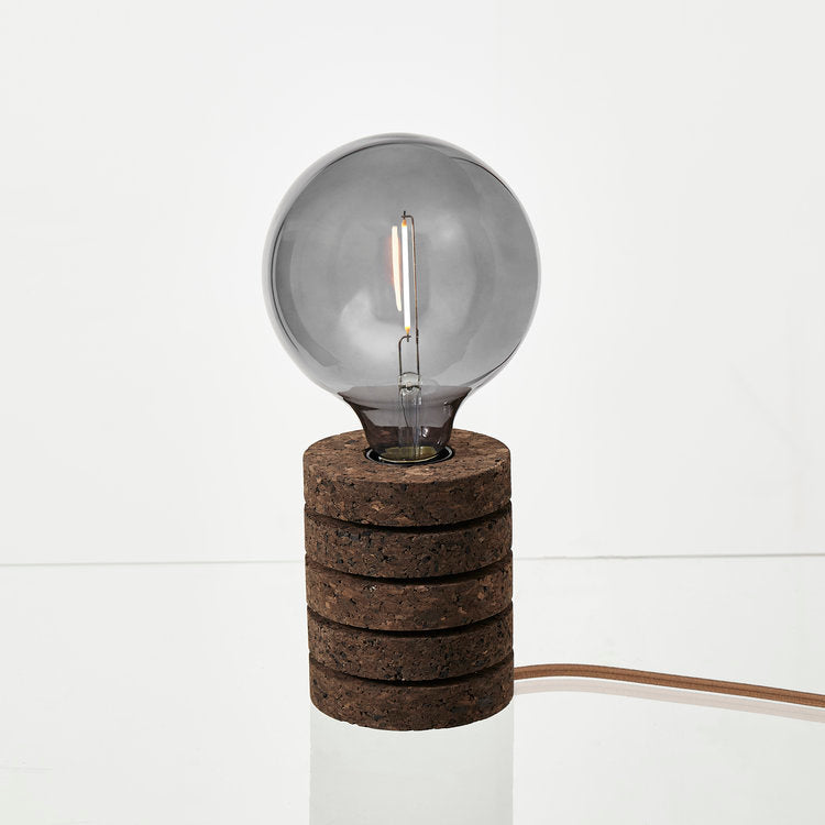 Nove blackened cork stack table lamp