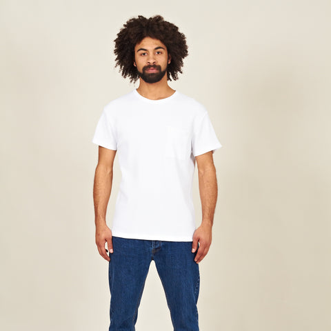 Palhais waffle cotton tshirt white front