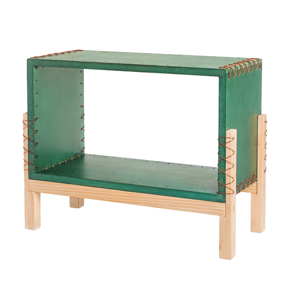 Wooden Storage Unit Green