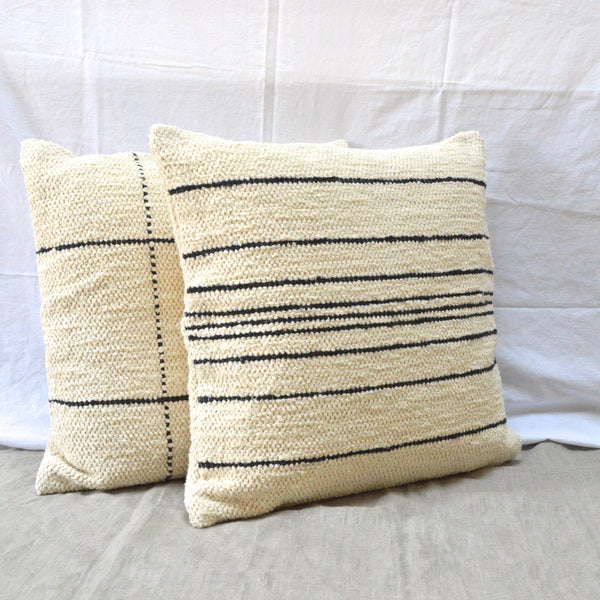 Woven cushion stripes