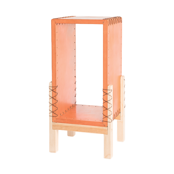 Wooden Side Table | Orange