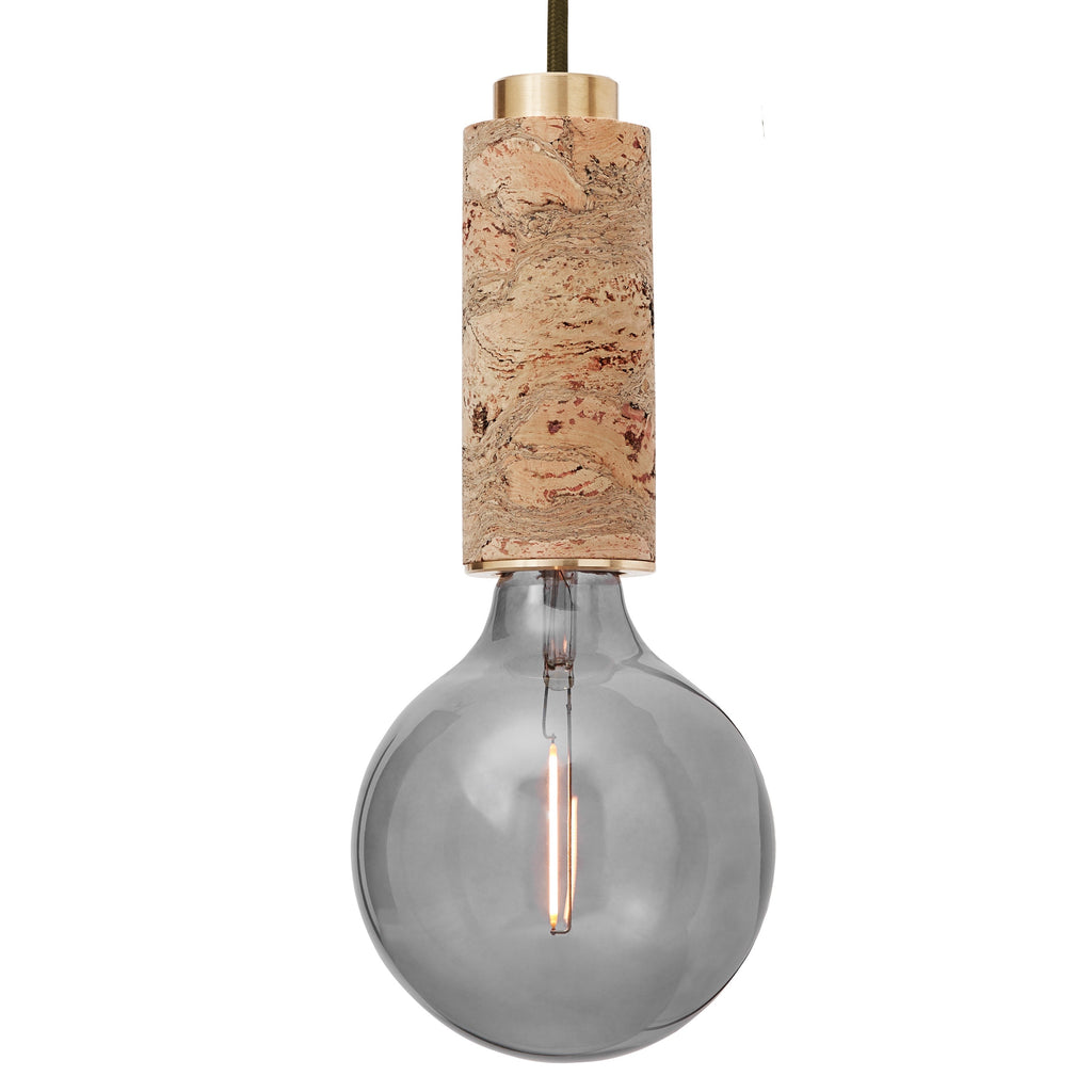 Nove marbled cork wall light brass