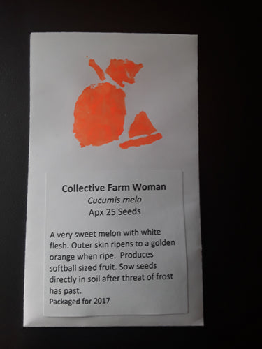 Collective Farm Woman Cantaloupe