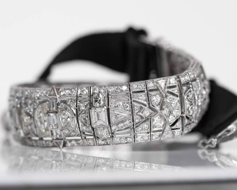 1930s Platinum, Diamond Choker Necklace