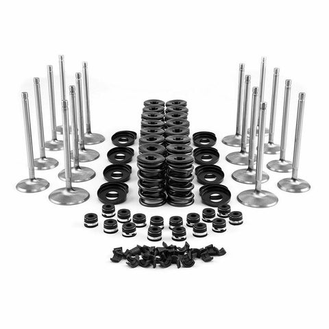 "BBC  KIT WITH VALVES PLUS 100  V8 Chevy 1.44"" Dual Valve Spring Retainers Locks Overhaul Kit .600 Lift free shipping"