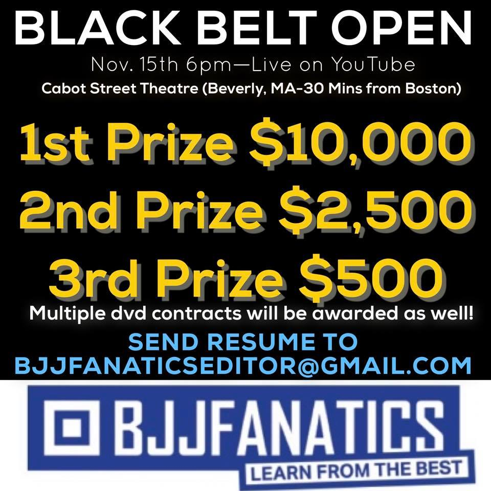 BJJFANATICS Announces Black Belt Open