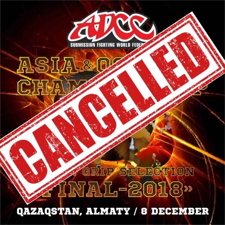 ADCC Asia & Oceania Trial 2018 - CANCELLED!