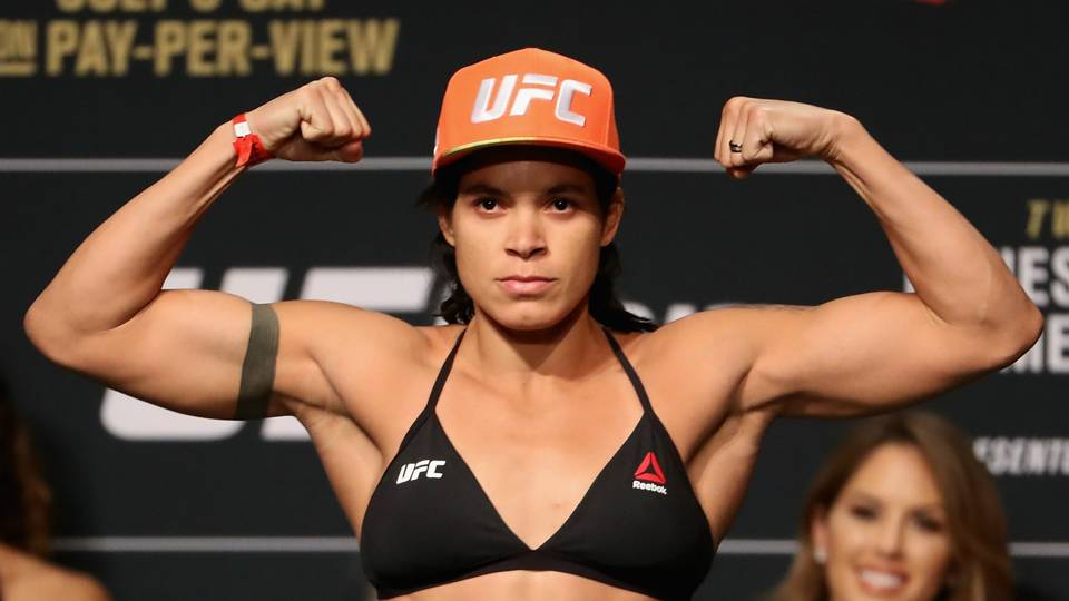 Amanda Nunes In The UFC Women's Featherweight Championship Bout