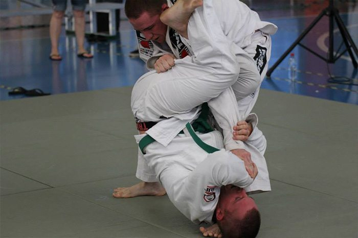 Closed Guard Armbar Against a Standing Opponent
