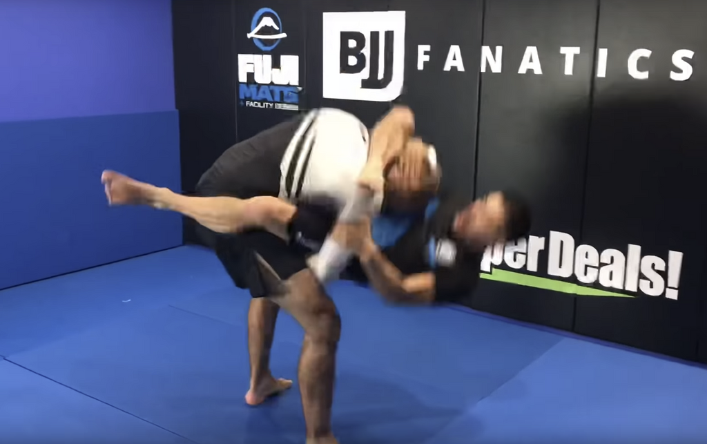The Old Guy Flying Triangle Submission From Single Leg Takedown