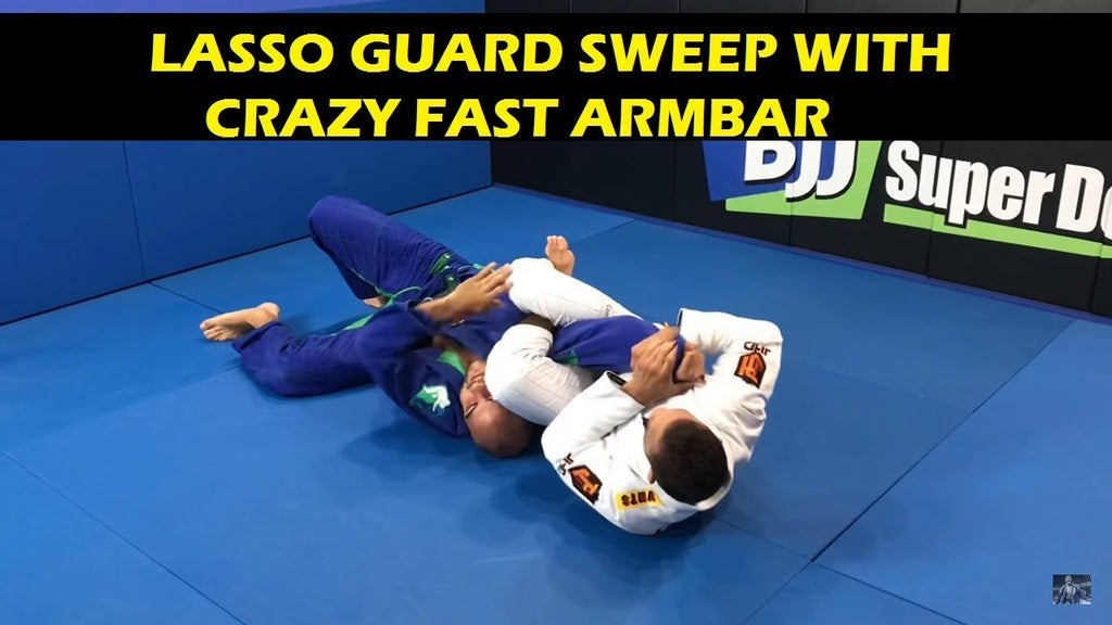 Slick Sweep From Lasso Guard with Armbar Finish