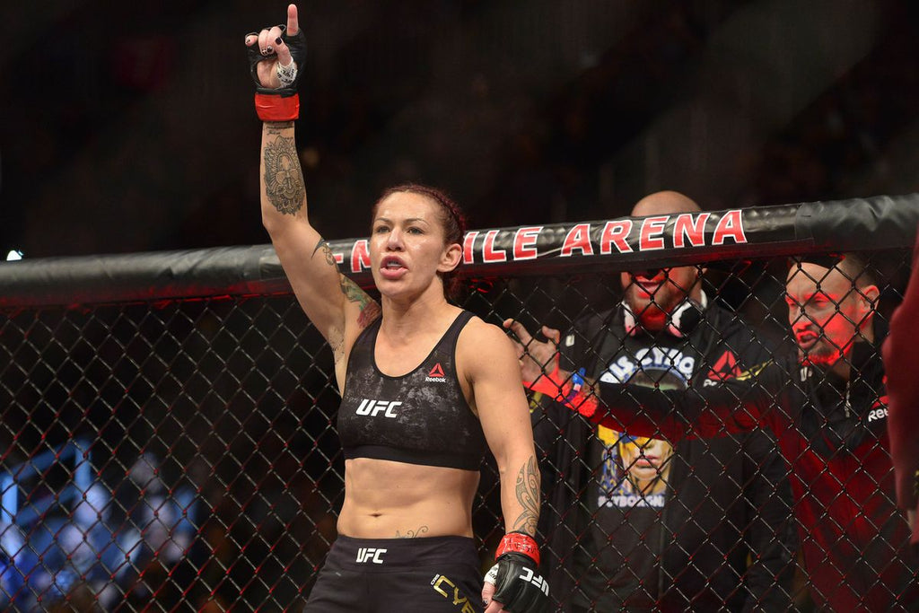 Cris Cyborg In The UFC Women's Featherweight Championship Bout