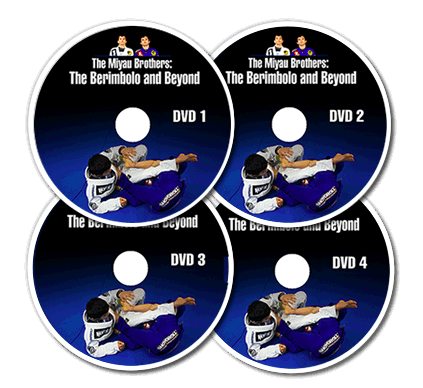 4 Instructional DVDs on the berimbolo Brazlian Jiu Jitsu technique taught by the Miyao Brothers