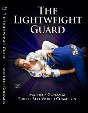 Cover for DVD of Matheus Gonzaga teaching BJJ techniques for the lightweight guard