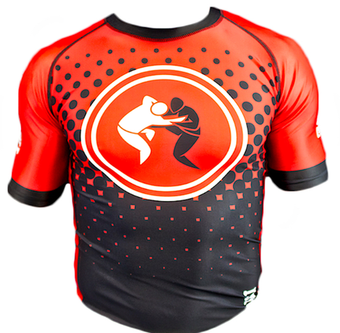 Impassable New Wave Rashguard (Red + Black)