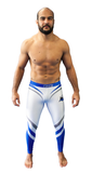 Impassable Spats (White + Blue)