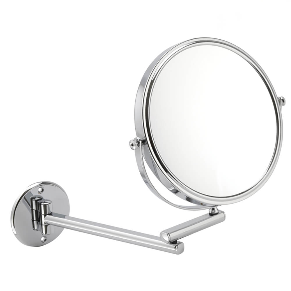 Round 20cm Wall Mounted Extending Bathroom Mirror 10x mag 1081 20C
