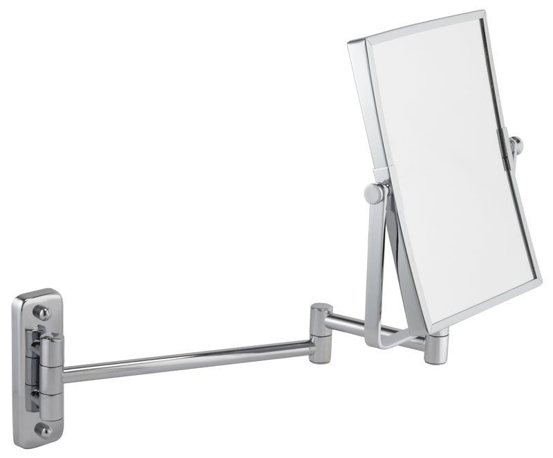 Rectangle Chrome Wall Bathroom Mirror with Extending Arm 3x magnification 342 21C