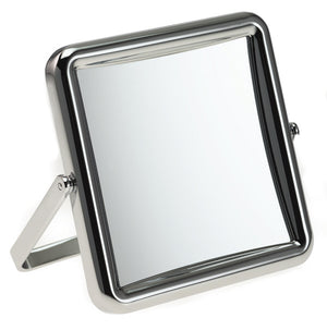 Chrome Travel Mirror 10cm 5x magnification