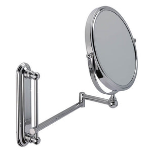 5x magnification Round Chrome Wall Bathroom Mirror with Extending Arm. 581 20CHR